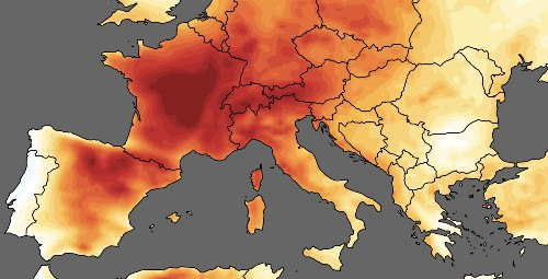 Heat waves bring record-breaking temperatures on a geological scale