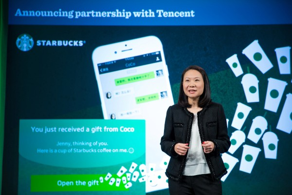 WeChat users in China can now gift friends a Starbucks coffee via chat