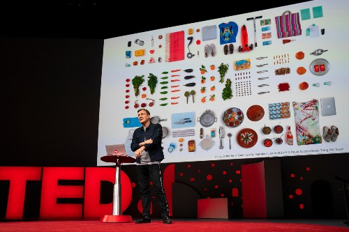 Google's Ivan Poupyrev shows off Jacquard, which connects his Levi's jacket to the cloud
