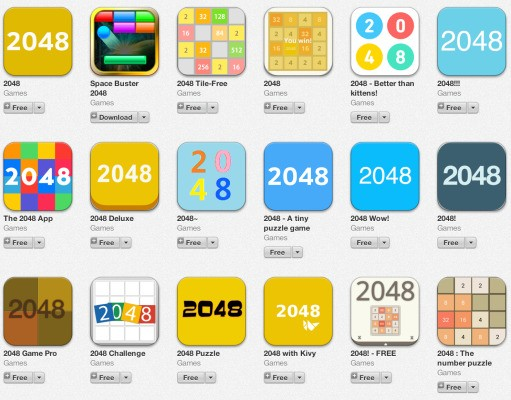 "Clones, Clones Everywhere – ""1024,"" ""2048"" And Other Copies Of Popular Paid Game ""Threes"" Fill The App Stores"
