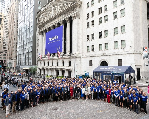 Medallia stock up 76% following first day trading on the NYSE
