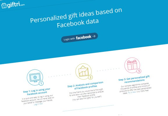 Giftri Mines Friends' Facebook Data To Provide Gift Recommendations On Amazon