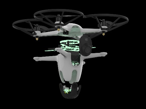 This autonomous security drone is designed to guard your home