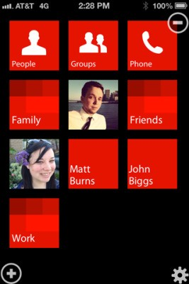 Fliple Snags Windows Phone's Style, Brings It To iOS As A Contacts Manager