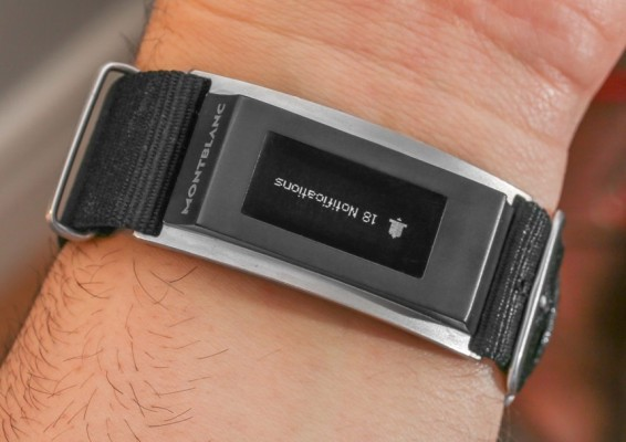 Here's A Closer Look At The Montblanc Smart Band For Fancy Watches