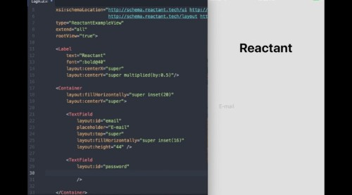 Reactant is a new native framework for iOS apps