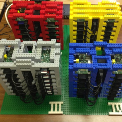 PiCloud Is A Model Cloud Made Of Raspberry Pi & LEGO For Teaching Students About Web Platforms