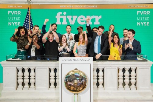 Fiverr shares climb 90% in first day of trading