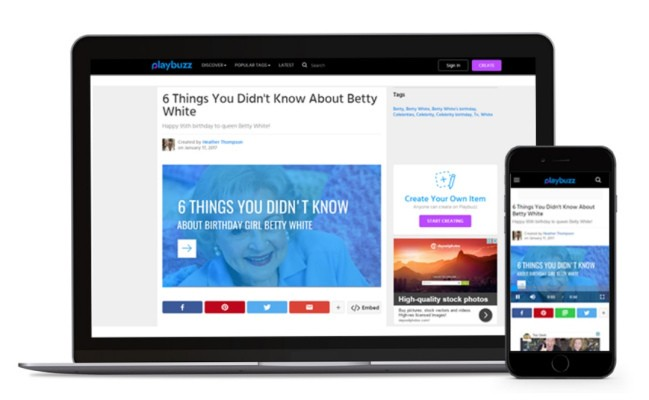 Playbuzz unveils a new editor for writing articles chock full of interactive content