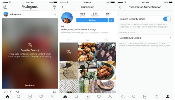 Instagram begins blurring some sensitive content, opens two-factor to all