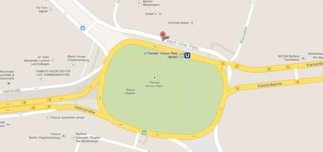 Google Maps Mistakenly Labels Berlin Square After Hitler