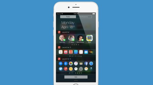 Launcher lets you create iOS widgets that display or hide based on day, time or location