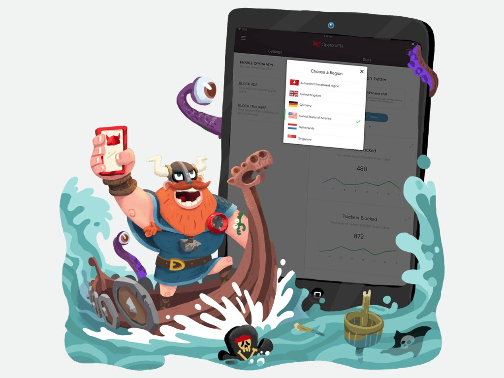 Opera brings its free VPN service to iOS with a new app, Opera VPN