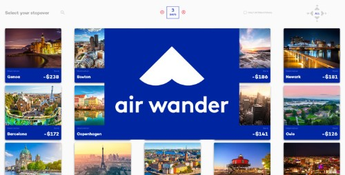 Find free stopover vacations with AirWander flight search