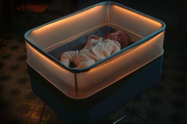 Ford built a baby bed that feels like it's driving around the neighborhood