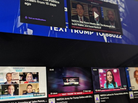 Trump's account is back on Twitch following 'hateful conduct' suspension