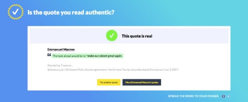 Storyzy is a quote verifier that wants to skewer fake news