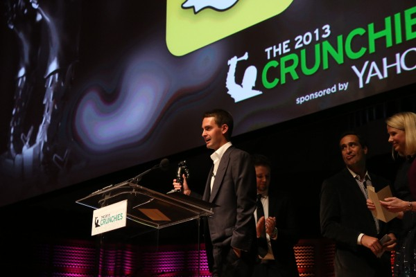 Snapchat Wins 'Best Mobile Application' At The 2013 Crunchies, Award Disappears In 10 Seconds