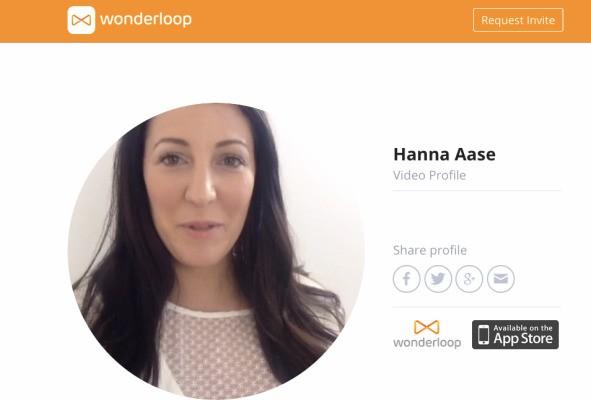Wonderloop Launches A Web Version Of Its Video Profiles App