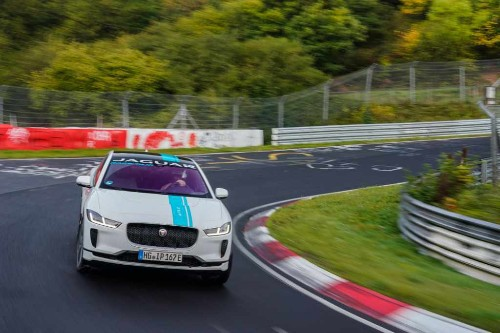 For $164, Jaguar will let you co-pilot its I-Pace race taxi around the Nürburgring