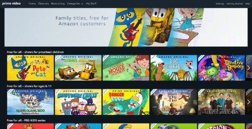 Amazon Prime Video is streaming kids movies and TV for free, no Prime membership required – TechCrunch