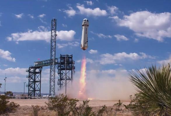 Blue Origin's New Shepard skims space in successful 8th test launch