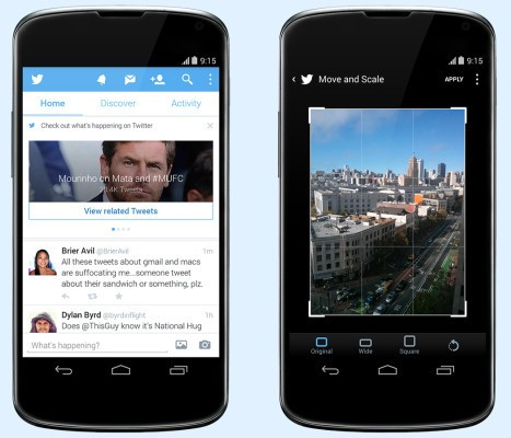 Twitter Mobile Update Bubbles Trending Events To The Top Of The Timeline, Adds Photo Editing