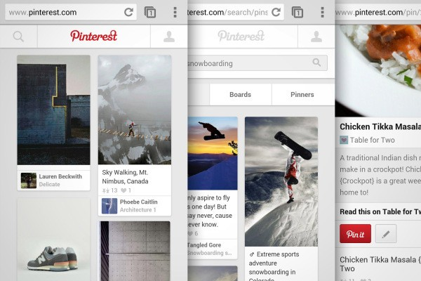 Now With 75% Of All Traffic Coming From Apps, Pinterest Revamps Its Mobile Website