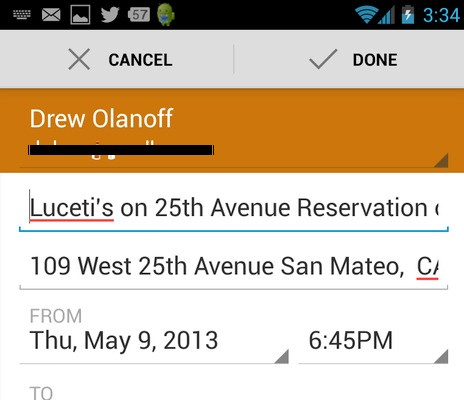 OpenTable For Android Gets Better Google Maps Integration, Booked Reservations To Calendar And Improved Navigation
