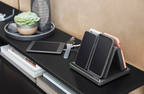 Spansive's first wireless charger powers multiple phones simultaneously and works through thick cases