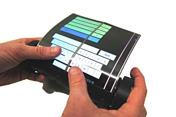Scientists make a touch tablet that rolls and scrolls