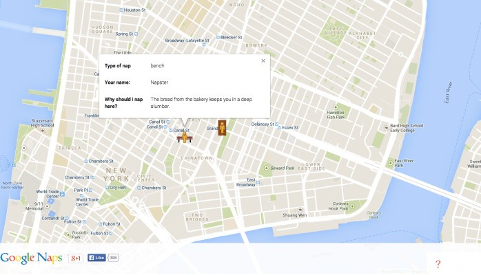 Google Naps, For When You Need A Nap Nearby