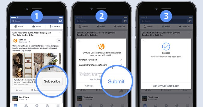 Marketers Will Drool Over Facebook's New Signup Ads That Auto-Fill Your Email Or Number