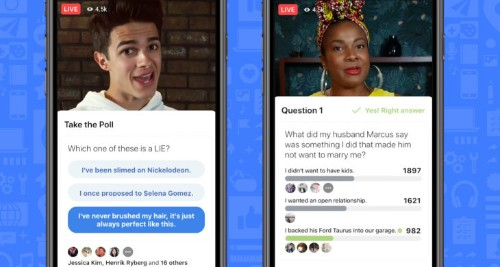 Facebook launches gameshows platform with interactive video