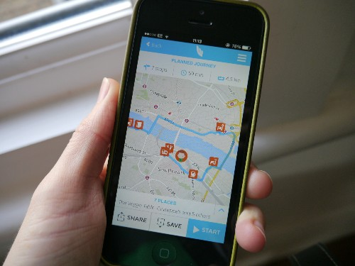 WunderWalk App Lets You Quickly Map An Urban Outing