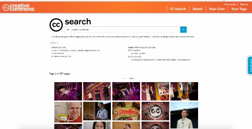 Creative Commons unveils a new photo search engine with filters, lists & social sharing