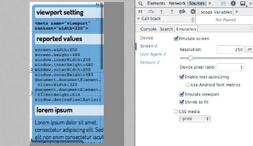 Chrome Beta Gets New Tools For Mobile Development With Better Viewport Emulation, Screencast-Enabled Remote Debugging