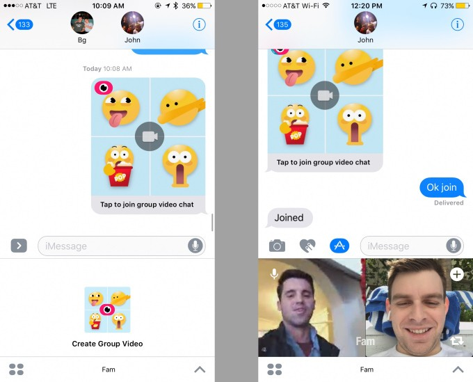 Fam lets you do group videochats directly within iMessage