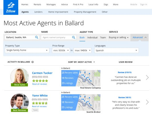 Zillow Launches Agent Finder To Help You Find The Best Realtor In Your Area