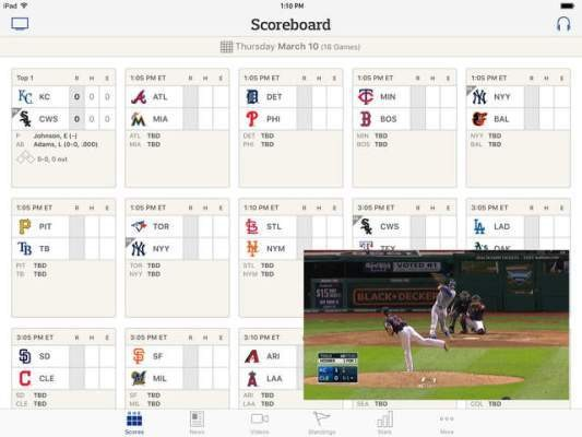 Live video viewing up 86% over last year in MLB's At Bat app, thanks to addition of multitasking – TechCrunch