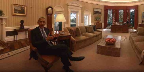 Take a guided tour of the White House with Barack and Michelle in virtual reality