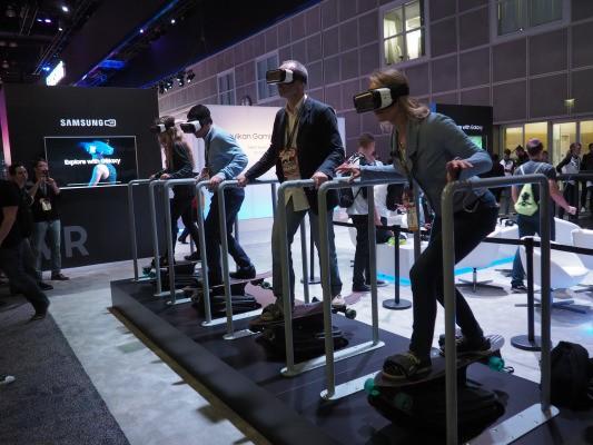 VR skateboarding at E3