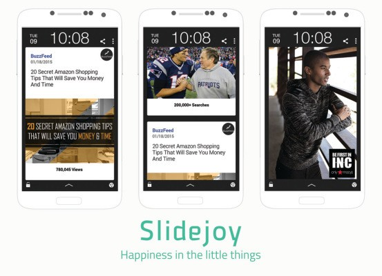 Slidejoy Snags $1.2 Million To Put News And Ads On Android Lockscreens