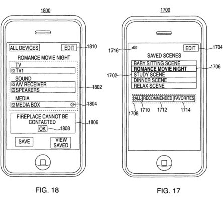 Apple Patents Smart Home And Media Center Remote Control Via iPhone