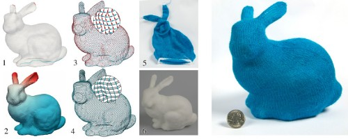 Knitting machines power up with computer-generated patterns for 3D shapes
