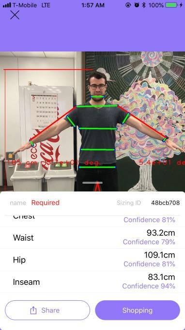 Original Stitch's new Bodygram will measure your body