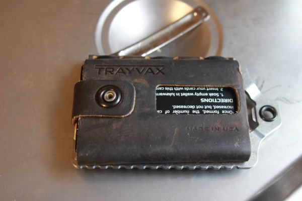 The Trayvax Element is a minimalist wallet for the paranoid beer-lover