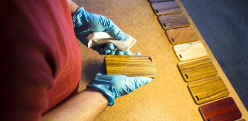 Pittsburgh's Kerf Cases enrobes your phone in fine wood