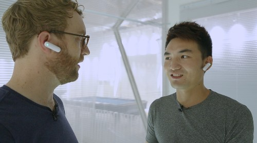 Timekettle's WT2 real-time translation earpieces enable ordinary conversation across language barriers