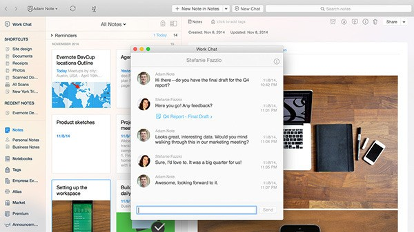 Evernote Brings Context, Work Chat And Presentation Out Of Beta